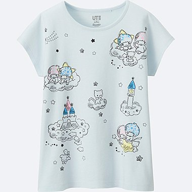 GIRLS SANRIO SHORT SLEEVE GRAPHIC T-SHIRT, LIGHT BLUE, medium