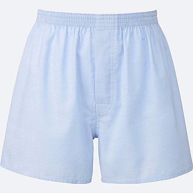 MEN WOVEN LIGHT OXFORD BOXERS, LIGHT BLUE, medium