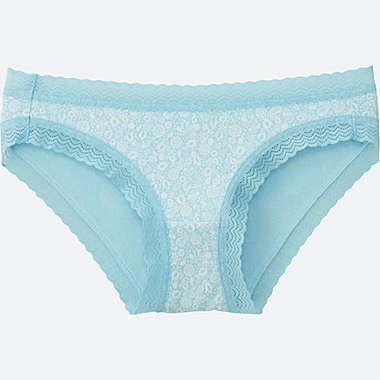 WOMEN BIKINI (FLOWER), LIGHT BLUE, medium