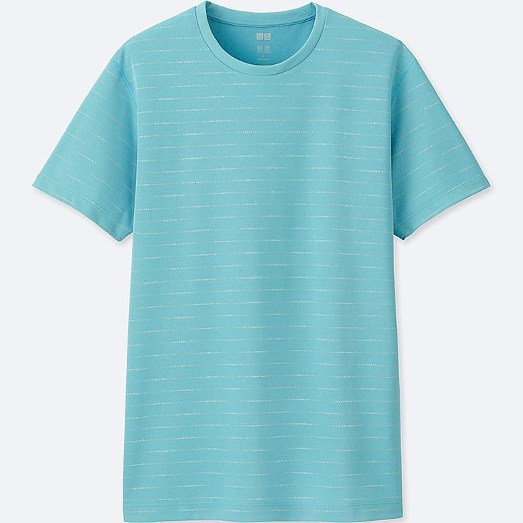 MEN DRY-EX SHORT-SLEEVE CREWNECK T-SHIRT, LIGHT BLUE, large