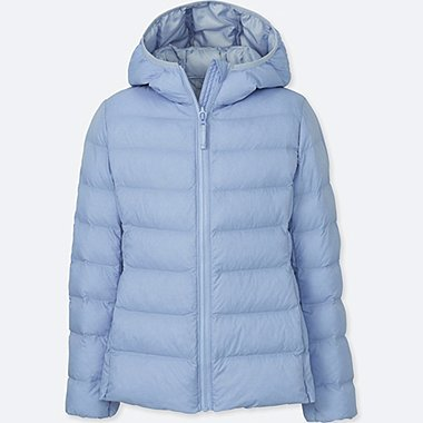 GIRLS LIGHT WARM PADDED PARKA, LIGHT BLUE, medium