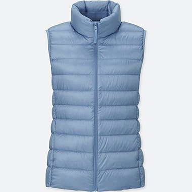 Women Ultra Light Down Vest, LIGHT BLUE, medium