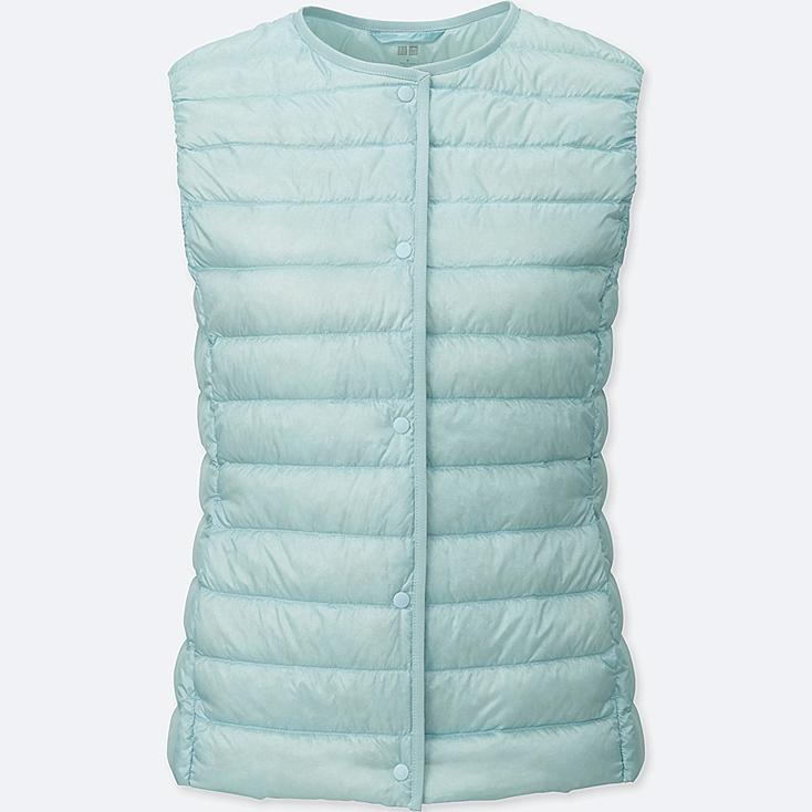 Women Ultra Light Down Compact Vest, LIGHT BLUE, large