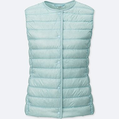Women Ultra Light Down Compact Vest, LIGHT BLUE, medium