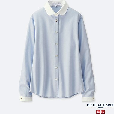 INES - CHEMISE OXFORD manches longues FEMME
