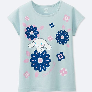 GIRLS SANRIO SHORT-SLEEVE GRAPHIC T-SHIRT, LIGHT BLUE, medium