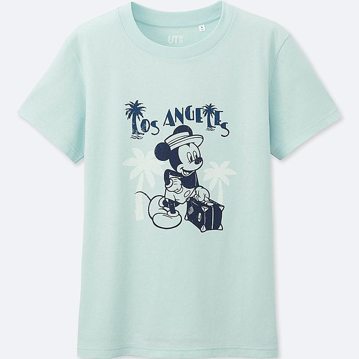 WOMEN MICKEY TRAVELS SHORT-SLEEVE GRAPHIC T-SHIRT, LIGHT BLUE, large