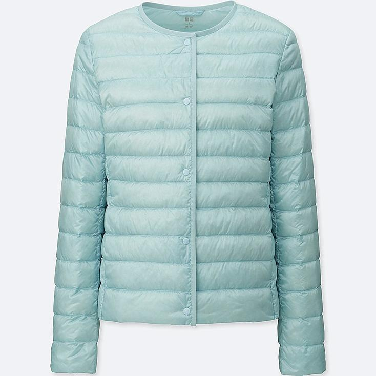 WOMEN ULTRA LIGHT DOWN COMPACT JACKET, LIGHT BLUE, large