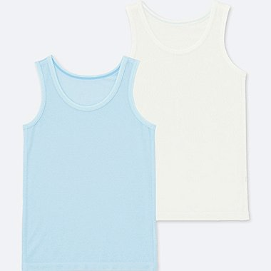 TODDLER AIRism MESH TANK TOP (SET OF 2), LIGHT BLUE, medium