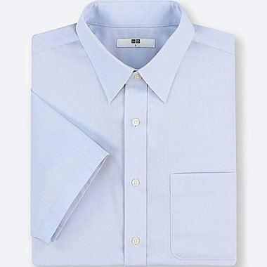 MEN DRY EASY CARE DOBBY SHORT-SLEEVE SHIRT (ONLINE EXCLUSIVE), LIGHT BLUE, medium