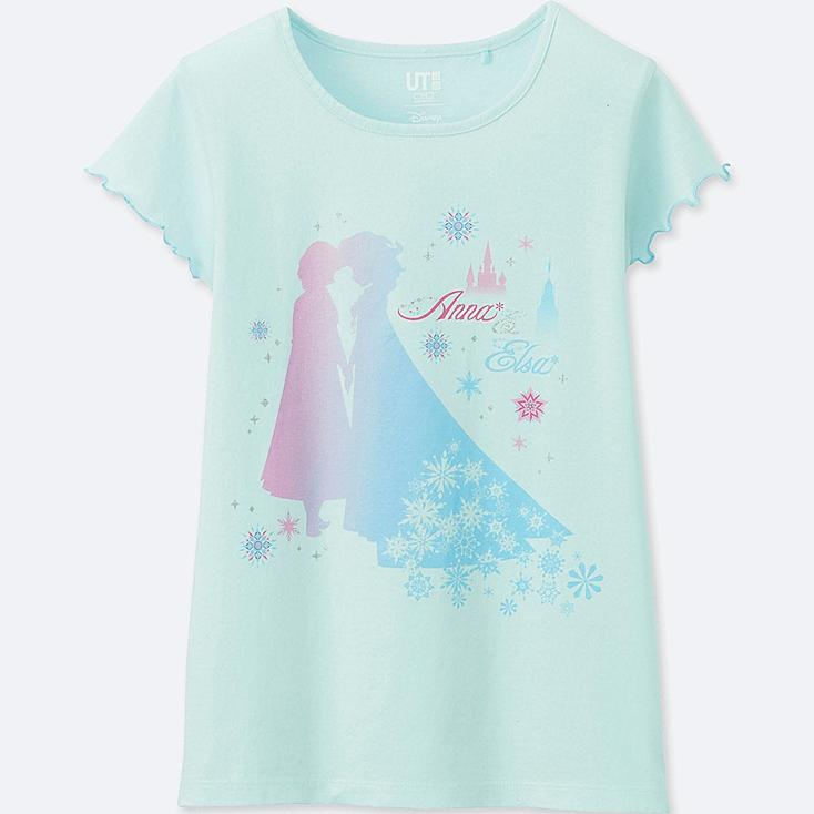 GIRLS SOUNDS OF DISNEY GRAPHIC T-SHIRT, LIGHT BLUE, large