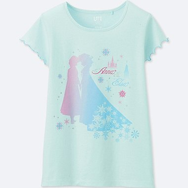 GIRLS SOUNDS OF DISNEY GRAPHIC T-SHIRT, LIGHT BLUE, medium