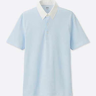 MEN AIRism POLO SHIRT, LIGHT BLUE, medium