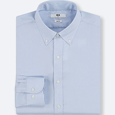 MEN EASY CARE OXFORD STRETCH SLIM-FIT LONG-SLEEVE SHIRT, LIGHT BLUE, medium