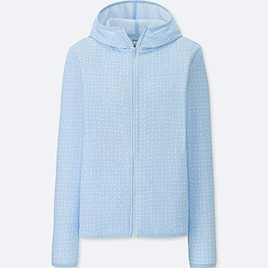 WOMEN SPRZ NY DRY-EX LONG-SLEEVE FULL-ZIP HOODIE (FRANCOIS MORELLET), LIGHT BLUE, medium