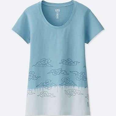 WOMEN KARAKAMI KARACHO SHORT-SLEEVE GRAPHIC T-SHIRT, LIGHT BLUE, medium