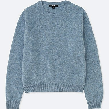 WOMEN PREMIUM LAMBSWOOL CREW NECK SWEATER