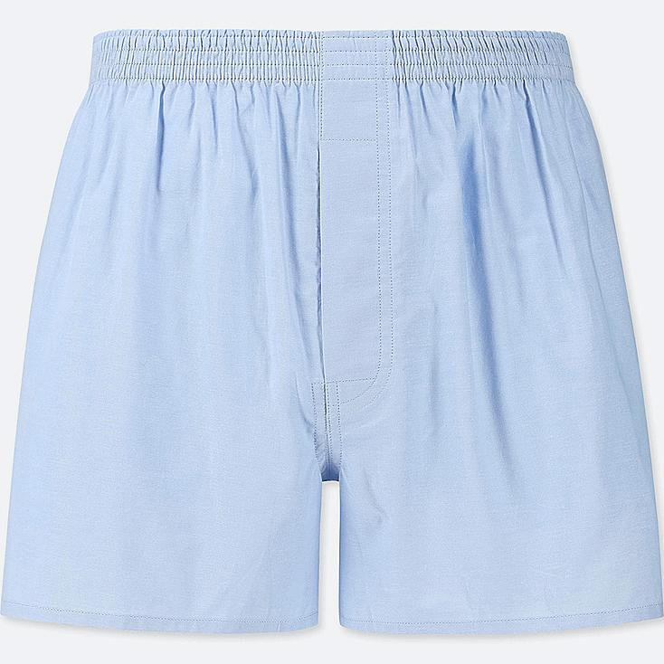 MEN WOVEN LIGHT OXFORD BOXERS, LIGHT BLUE, large