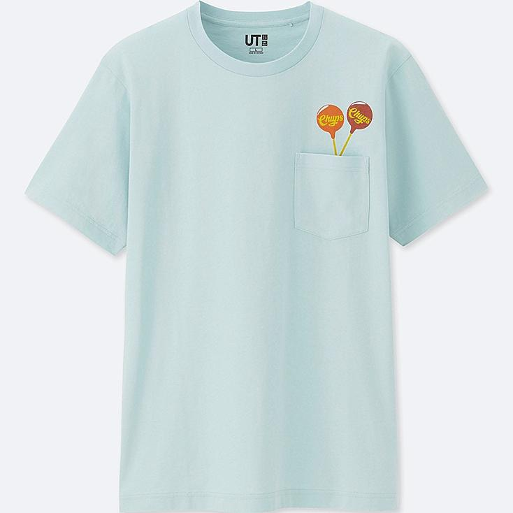 THE BRANDS SHORT-SLEEVE GRAPHIC T-SHIRT (CHUPA CHUPS), LIGHT BLUE, large