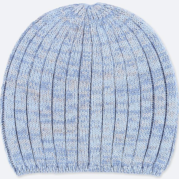 WOMEN HEATTECH KNITTED BEANIE, LIGHT BLUE, large
