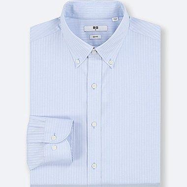 MEN EASY CARE DOBBY SLIM-FIT LONG-SLEEVE SHIRT, LIGHT BLUE, medium