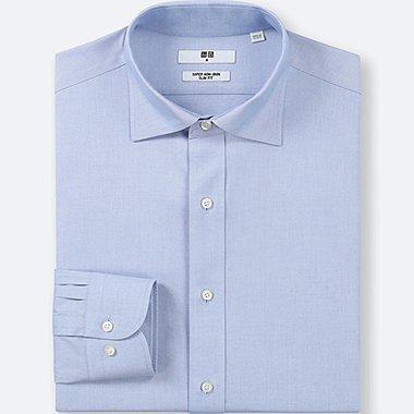 MEN SUPER NON-IRON SLIM-FIT LONG-SLEEVE SHIRT, LIGHT BLUE, medium