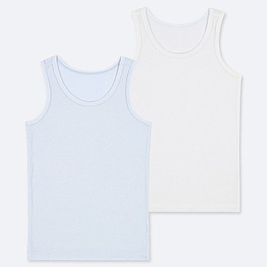 TODDLER AIRism MESH TANK TOP (SET OF 2), LIGHT BLUE, medium