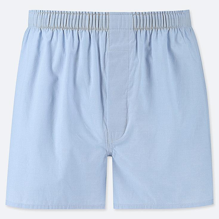 MEN WOVEN BROAD BOXERS, LIGHT BLUE, large