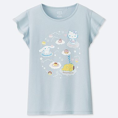 GIRLS SANRIO CHARACTERS UT (SHORT-SLEEVE GRAPHIC T-SHIRT), LIGHT BLUE, medium