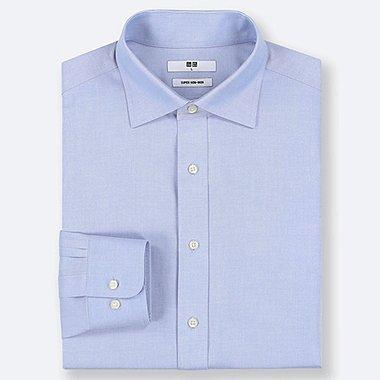 MEN SUPER NON-IRON REGULAR-FIT LONG-SLEEVE SHIRT (ONLINE EXCLUSIVE), LIGHT BLUE, medium