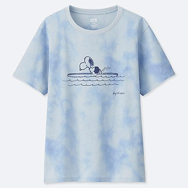 WOMEN PEANUTS SHORT-SLEEVE GRAPHIC T-SHIRT, LIGHT BLUE, medium