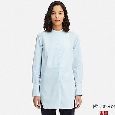 WOMEN JW ANDERSON LONGLINE TUXEDO LONG SLEEVED SHIRT
