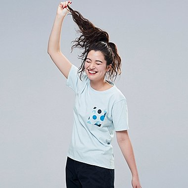 WOMEN MICKEY BLUE UT (SHORT-SLEEVE GRAPHIC T-SHIRT), LIGHT BLUE, medium