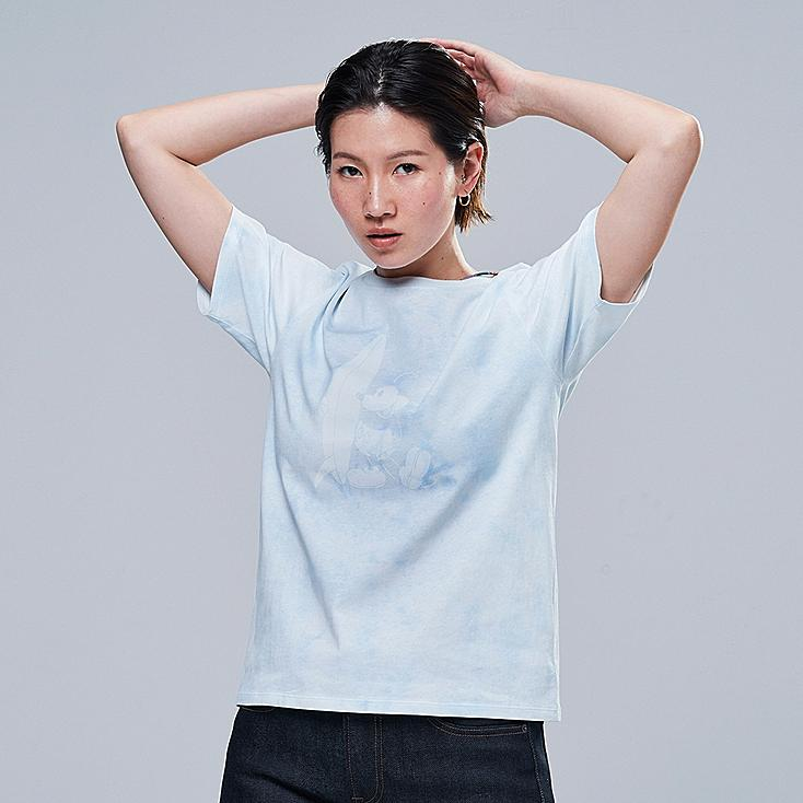 WOMEN MICKEY BLUE UT (SHORT-SLEEVE GRAPHIC T-SHIRT), LIGHT BLUE, large