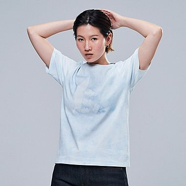 WOMEN MICKEY BLUE SHORT-SLEEVE GRAPHIC T-SHIRT, LIGHT BLUE, medium