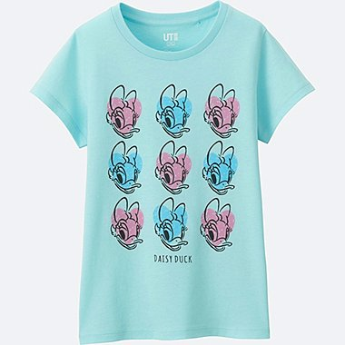 GIRLS DISNEY COLLECTION SHORT SLEEVE GRAPHIC TEES, BLUE, medium