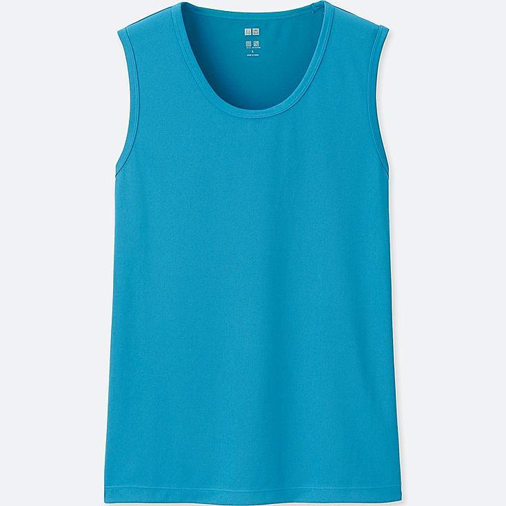 MEN DRY-EX SLEEVELESS T-SHIRT, BLUE, large
