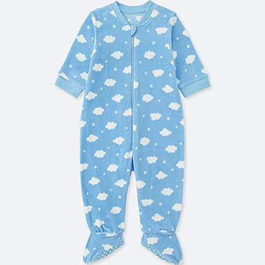BABIES NEWBORN STRETCH MICRO FLEECE ONE PIECE OUTFIT
