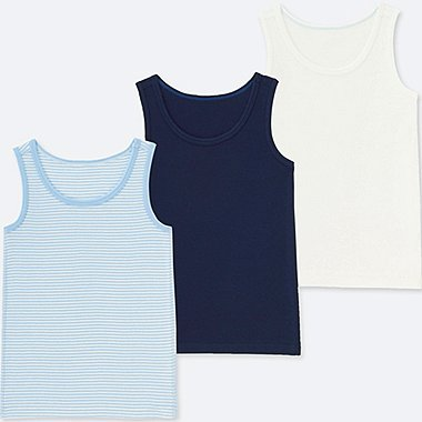 BABIES TODDLER COTTON INNER TANK TOP (3 PACK)