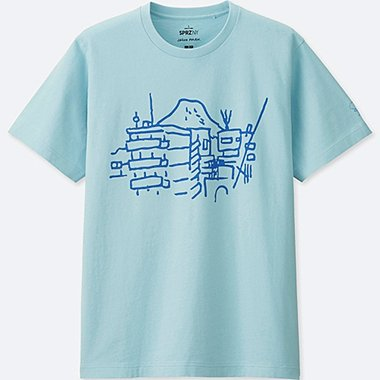 MEN SPRZ NY Short Sleeve Graphic T-Shirt (JASON POLAN), BLUE, medium