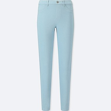 WOMEN LEGGINGS PANTS, BLUE, medium