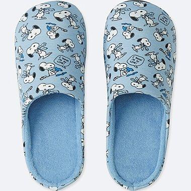 PEANUTS SLIPPERS, BLUE, medium