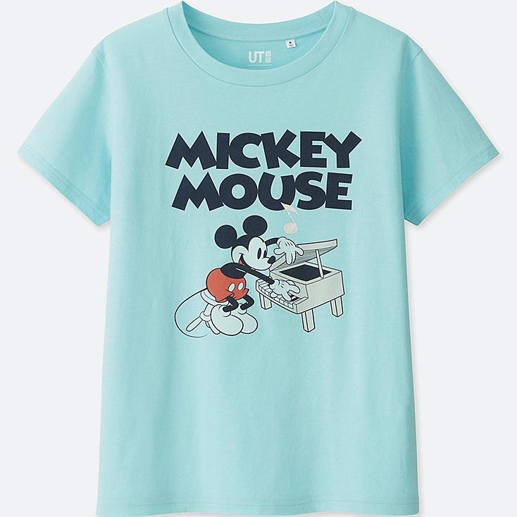 WOMEN SOUNDS OF DISNEY SHORT-SLEEVE GRAPHIC T-SHIRT, BLUE, large