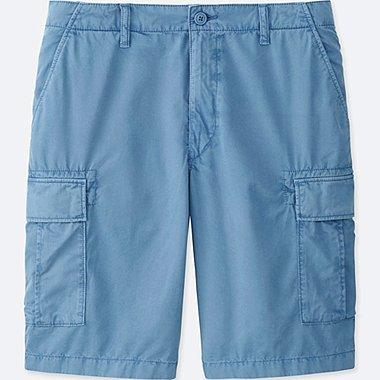 MEN CARGO SHORTS, BLUE, medium