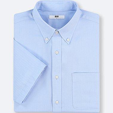 MEN DRY EASY CARE DOBBY SHORT-SLEEVE SHIRT (ONLINE EXCLUSIVE), BLUE, medium