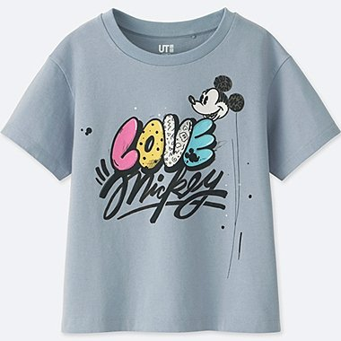KIDS LOVE & MICKEY MOUSE COLLECTION GRAPHIC T-SHIRT, BLUE, medium