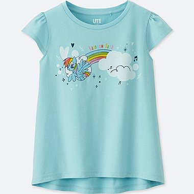 GIRLS MY LITTLE PONY GRAPHIC T-SHIRT, BLUE, medium