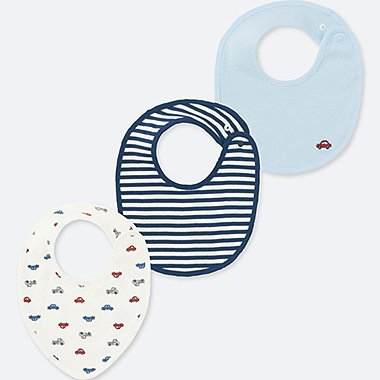 NEWBORN BIB (SET OF 3), BLUE, medium