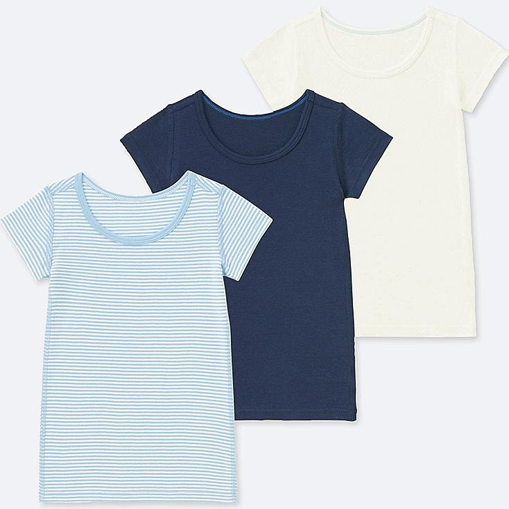 TODDLER COTTON INNER SHORT-SLEEVE T-SHIRT (SET OF 3), BLUE, large