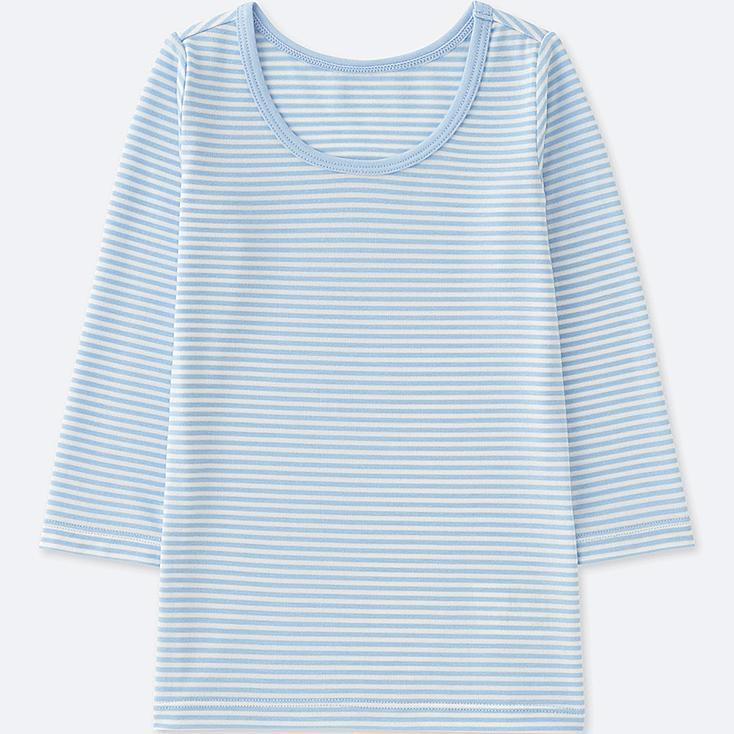 TODDLER HEATTECH U-NECK LONG-SLEEVE T-SHIRT, BLUE, large